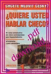 Chcete mluvit česky? - Učebnice 1 v pdf / Libro de texto 1 en pdf